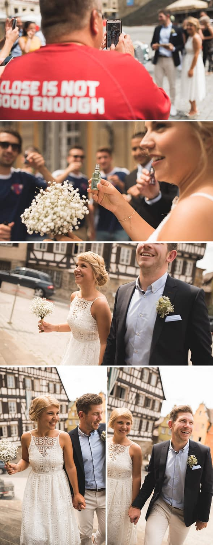 Hochzeit, Standesamt, Schwäbisch Hall, Hochzeit in Schwäbisch Hall, Heirat, Reportage, Hochzeitsfotograf, Vintage, Braut, Brautkleid, Kulisse, Rathaus, Feier, Shooting, Marktplatz
