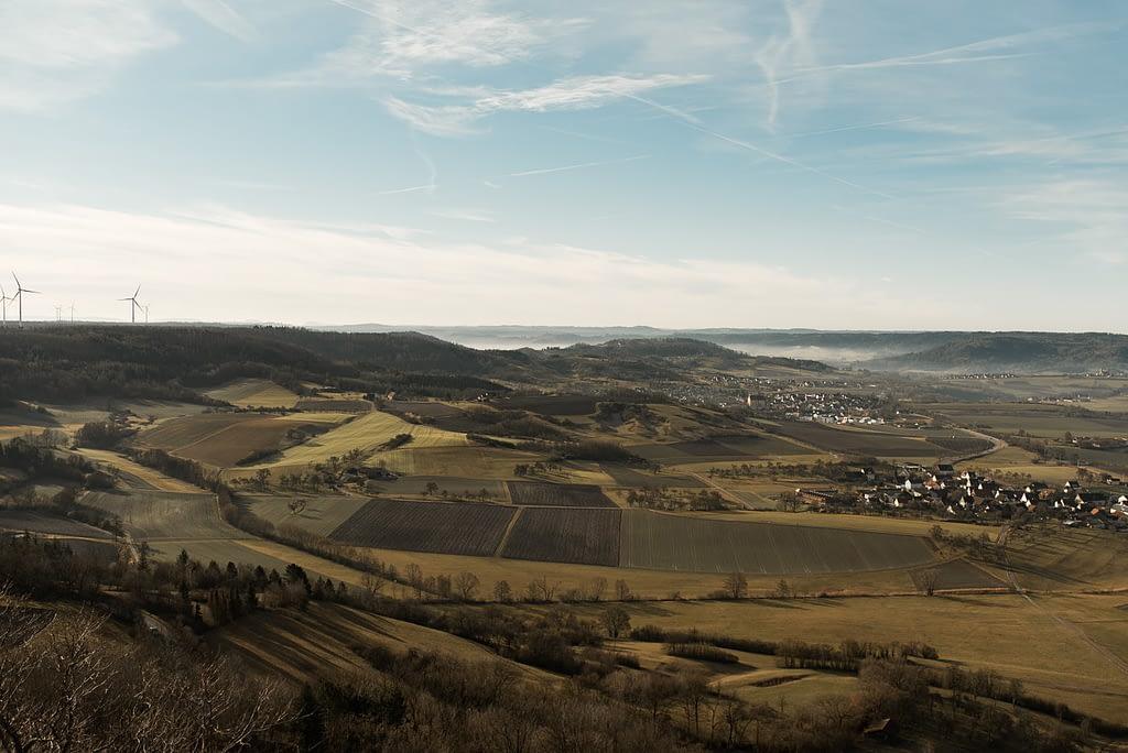 Einkorn Landschaft Richtung Michelbach Pilz