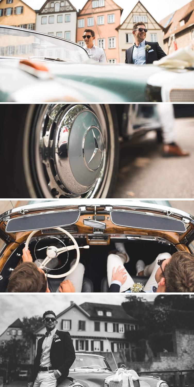 Hotel Scholl, Mercedes, S220, Oldtimer, Hochzeit, Standesamt, Schwäbisch Hall, Hochzeit in Schwäbisch Hall, Heirat, Reportage, Hochzeitsfotograf