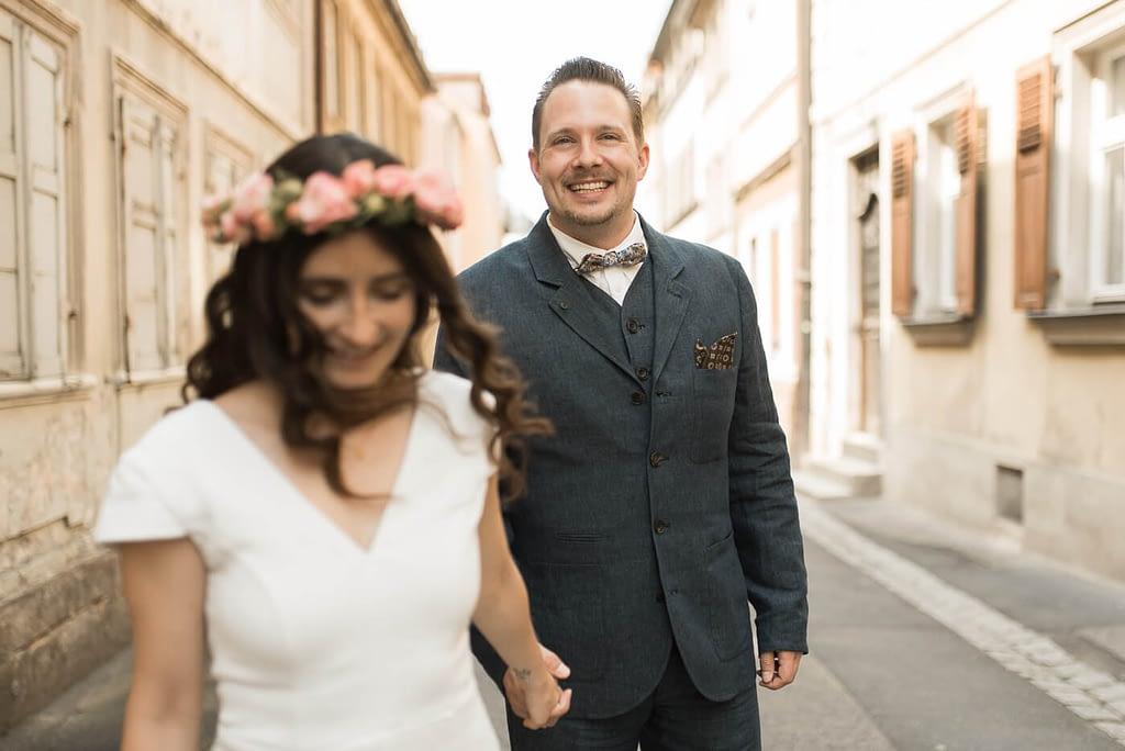 Brautpaar vor Hochzeit Standesamt Bamberg