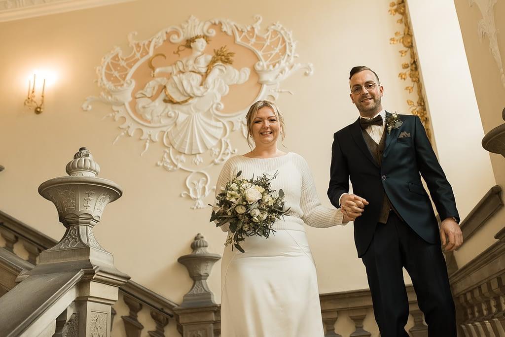 Hochzeit Standesamt im Trausaal Heldensaal Rathaus Schwäbisch Hall im Winter